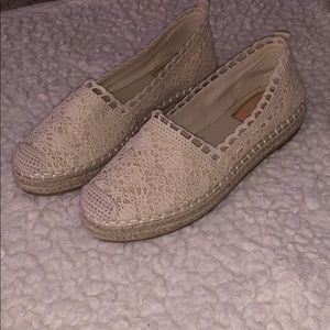 Crochet espadrille sneakers Never worn before